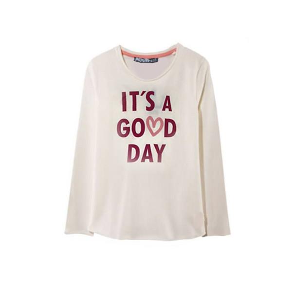 تی شرت آستین بلند دخترانه پیپرتس مدل Ti-Dok168