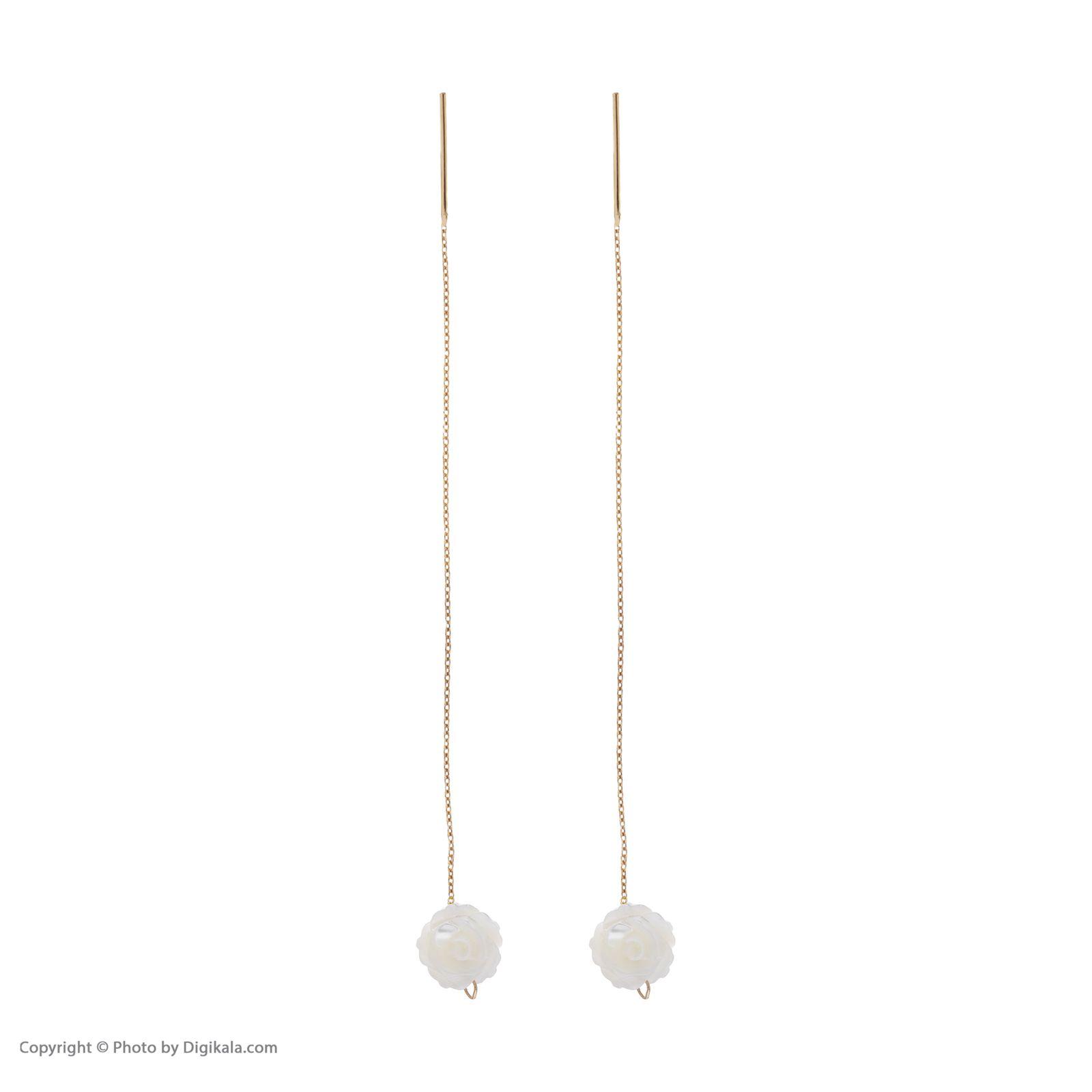 گوشواره طلا 18 عیار زنانه مایا ماهک مدل ME0846 -  - 4
