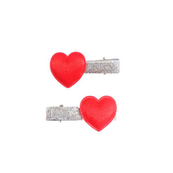 گیره مو دخترانه مدل قلبی بسته دو عددی