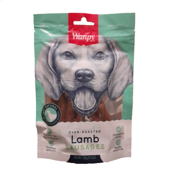 غذای تشویقی سگ ونپی مدل Lamb SAUSAGES وزن 100گرم