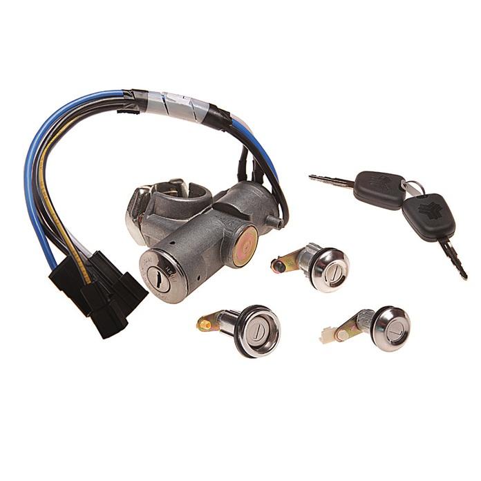 قفل و سوئیچ و استارت ان ال سی مدل S102 مناسب برای پراید بسته 6 عددی