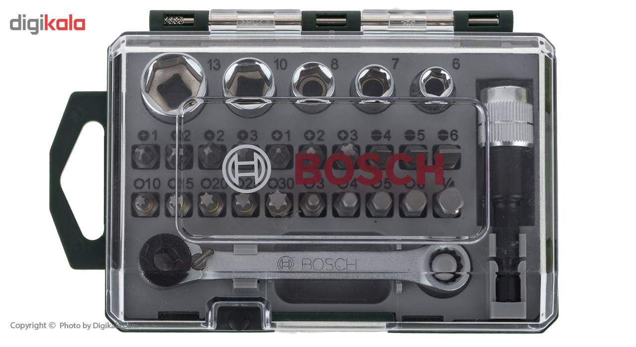 مجموعه 27 عددی سری بکس و پیچ گوشتی بوش مدل 2607017160 main 1 3