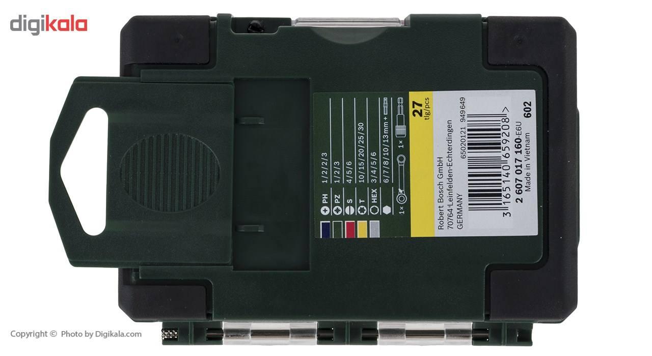 مجموعه 27 عددی سری بکس و پیچ گوشتی بوش مدل 2607017160 main 1 4