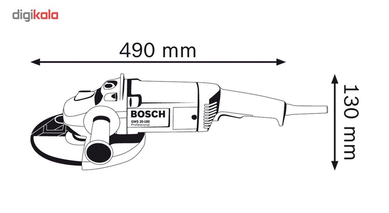 فرز آهنگری بوش مدل GWS 20-180 H