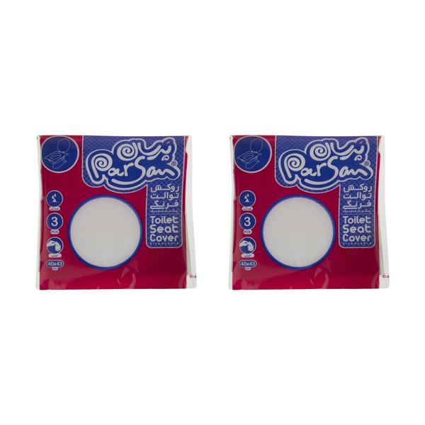 روکش یکبار مصرف توالت فرنگی پرسان کد 500190 دو بسته 3 عددی