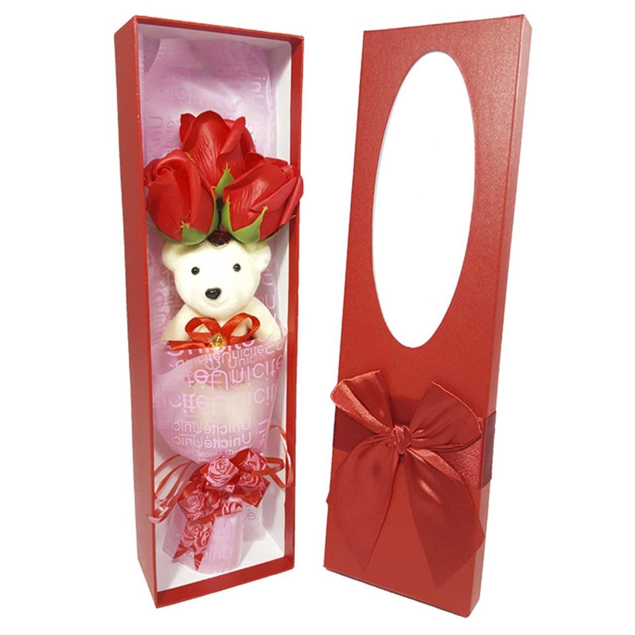 جعبه کادویی گل قرمز کد 14010052