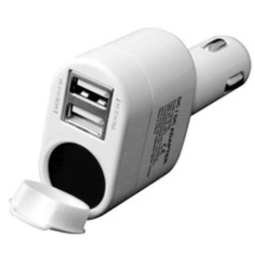 شارژر فندکی خودرو اینو اکس با 2 پورت USB و سوکت فندک ماشین