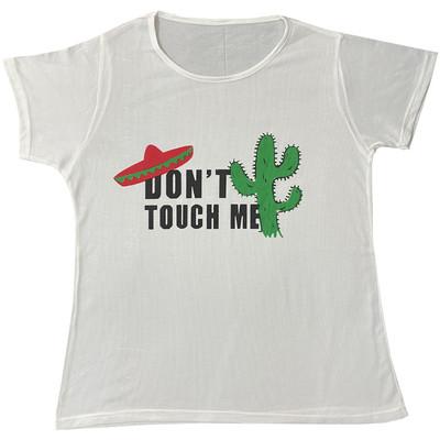 تی شرت زنانه طرح دونت تاچ می کد 001-6