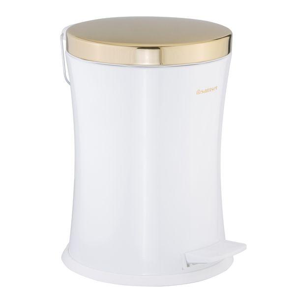 سطل زباله پدالی سام ست طرح کمرباریک کد 55115 ظرفیت 12 لیتری