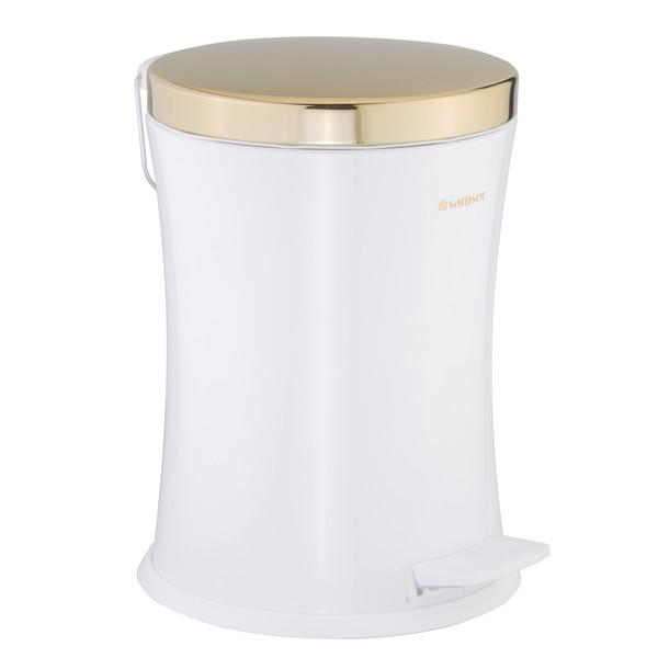 سطل زباله سام ست  طرح کمرباریک  کد 55115 ظرفیت 12 لیتری