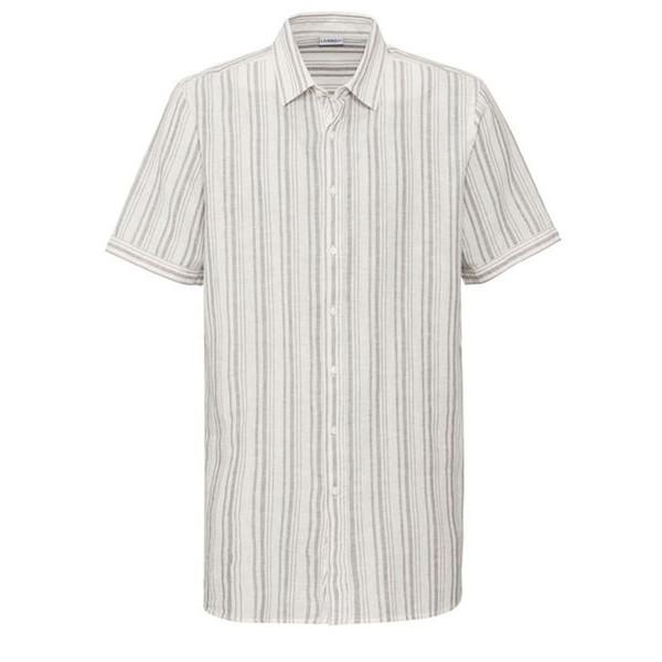 پیراهن آستین کوتاه مردانه لیورجی مدل راه راه