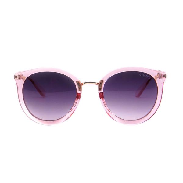 عینک آفتابی زنانه شانل مدل 9911 رنگ صورتی