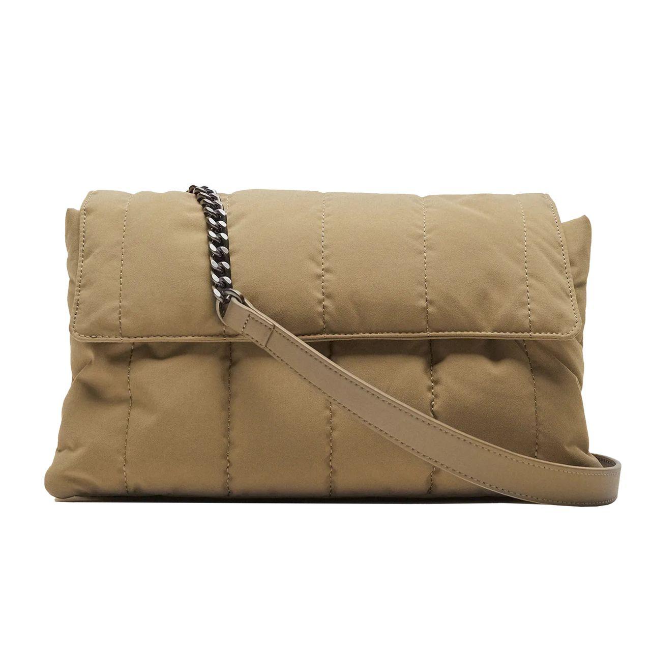 کیف دوشی زنانه زارا مدل QUILTED NYLON SHOULDER 6313710129