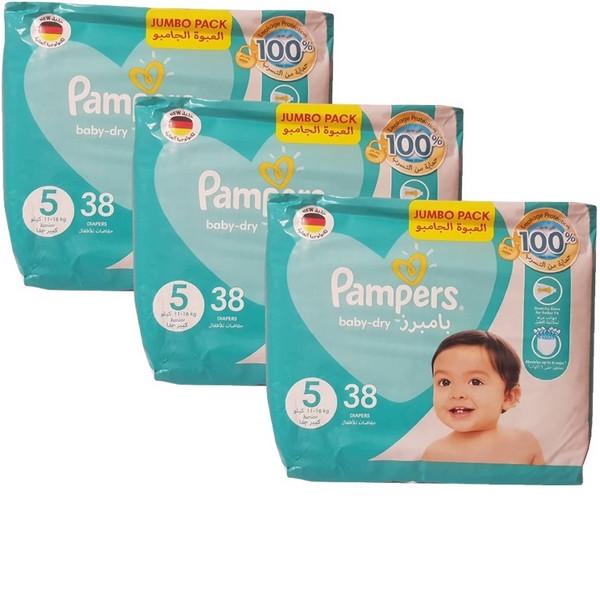 پوشک پمپرز مدل baby dry سایز 5 بسته 3 عددی