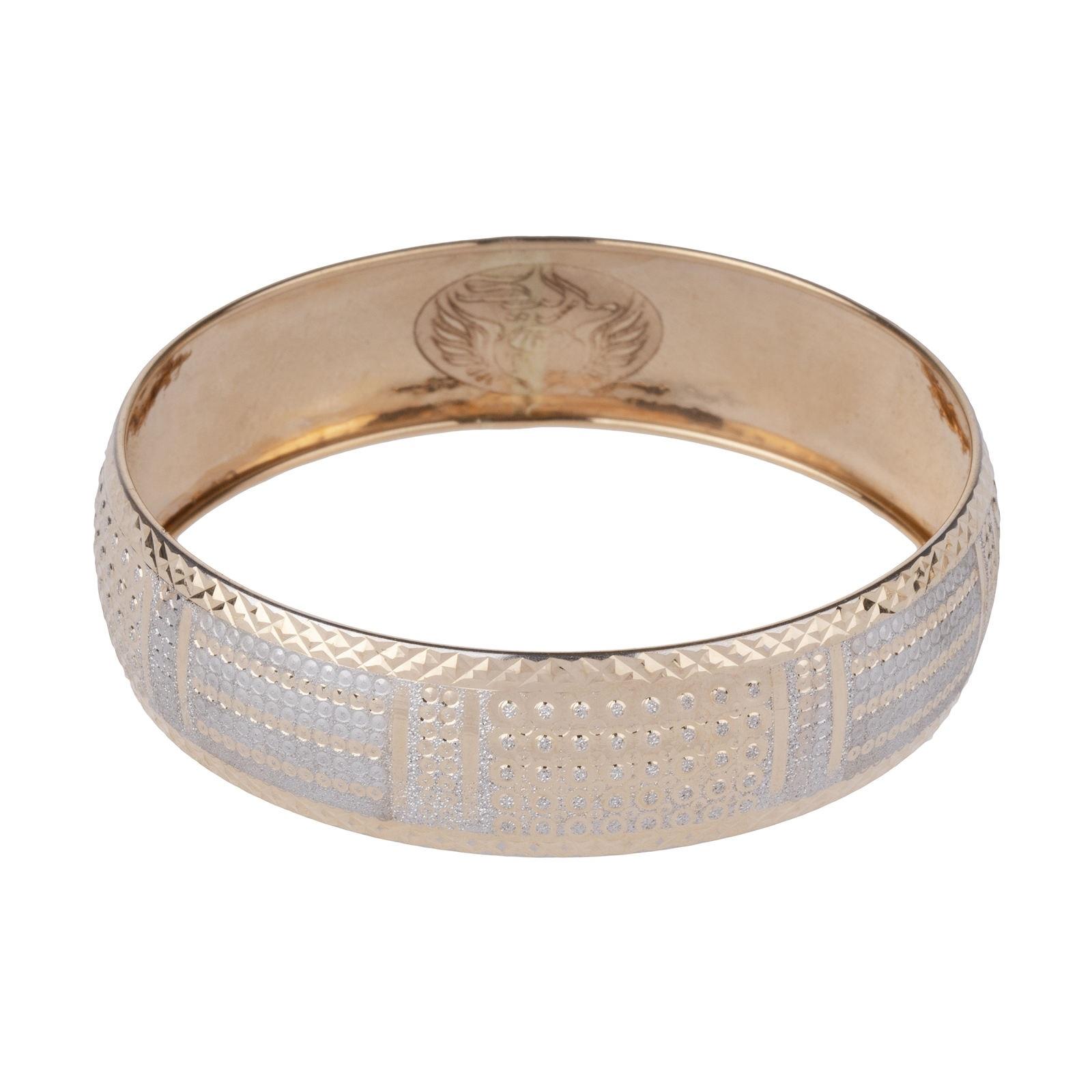 النگو طلا 18 عیار زنانه گالری یارطلا کد AL28-W-2