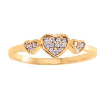 انگشتر زنانه طرح قلب کد RKH_270
