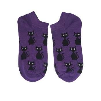 جوراب زنانه طرح گربه  ایستاده کد 10013
