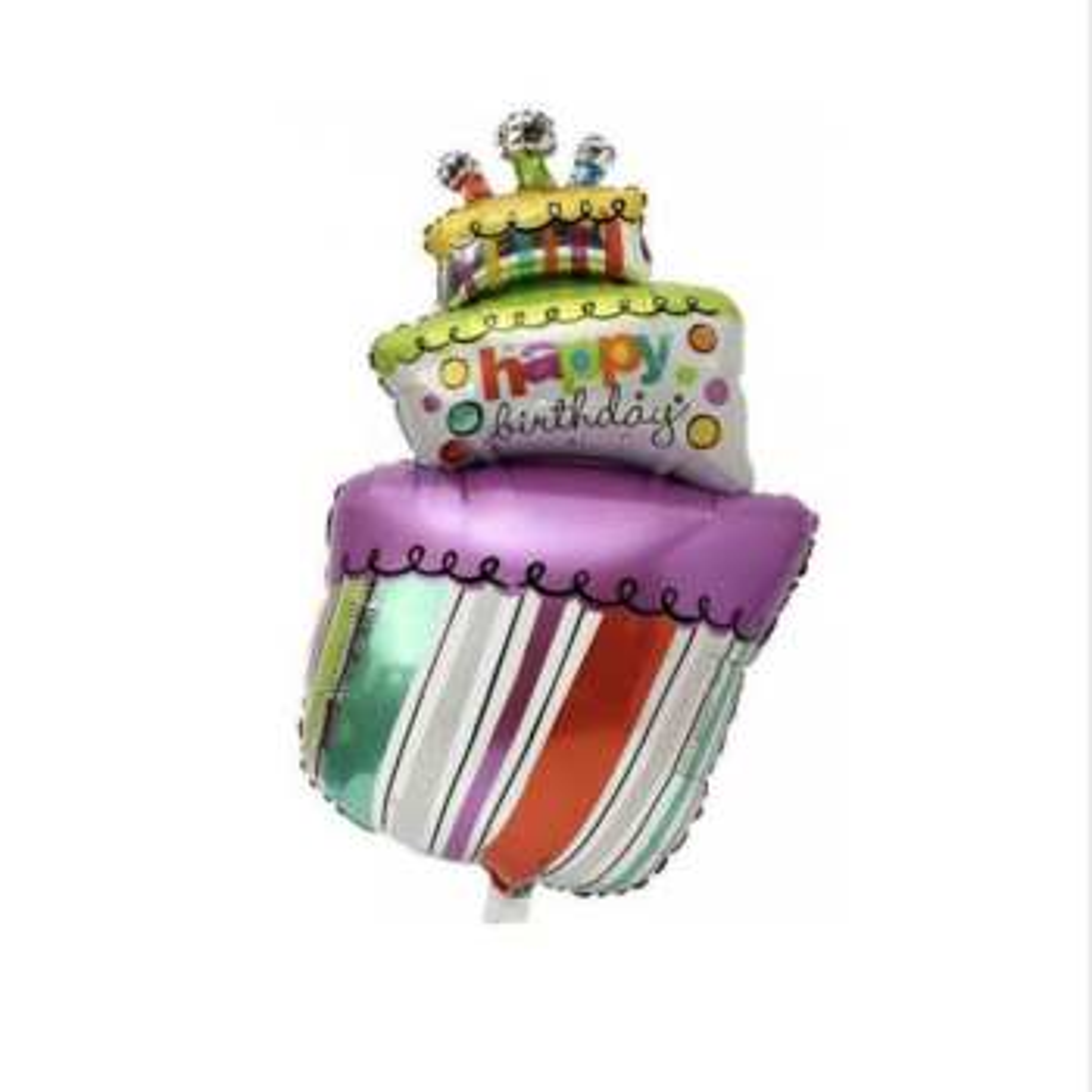 بادکنک فویلی مدل کیک تولد کد 0055