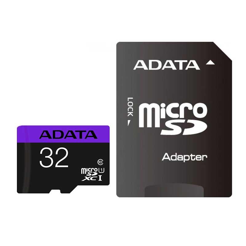 کارت حافظه microSDHC ای دیتا مدل Premier کلاس 10 استاندارد UHS-I U1 سرعت 80MBps ظرفیت 32 گیگابایت به همراه با آداپتور SD