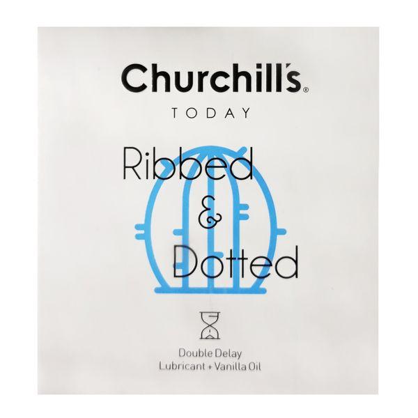 کاندوم چرچیلز مدل Ribbed & Dotted بسته 3 عددی