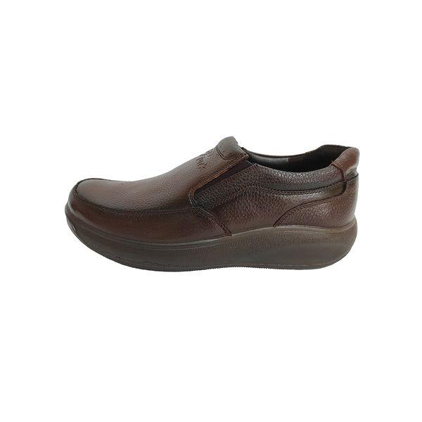 کفش طبی مردانه مدل چرم طبیعی کد 376