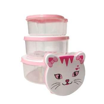 ظرف نگهدارنده مدل گربه مجموعه 4 عددی
