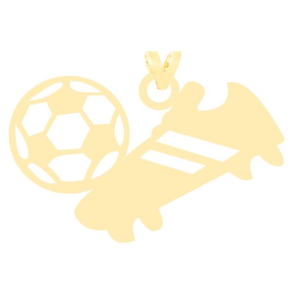 آویز گردنبند طلا 18 عیار زنانه کرابو طرح کفش و توپ فوتبال مدل Kr3134
