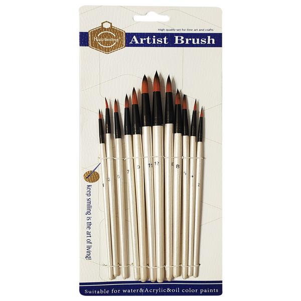 قلم مو کیپ اسمایلینگ مدل Redondo مجموعه 12 عددی