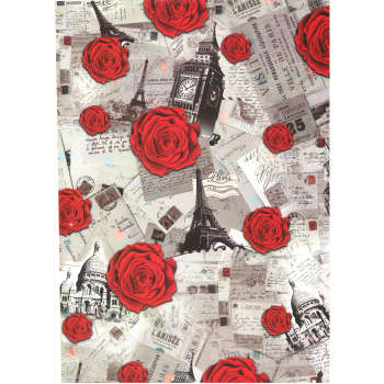 کاغذ کادو مدل پاریس