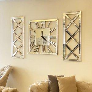 مجموعه ساعت دیواری و قاب آینه اِلِنسی مدل سهیل