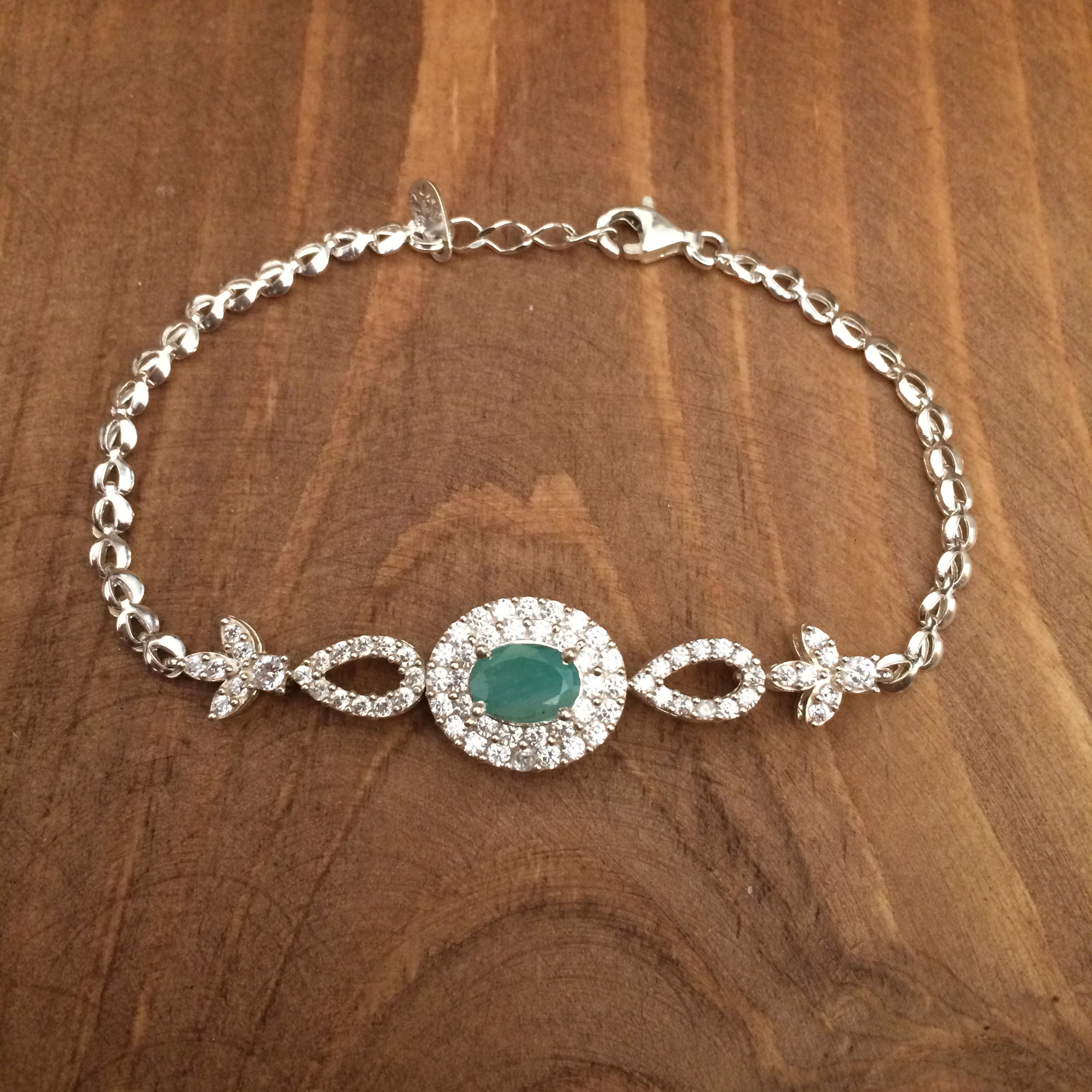 دستبند نقره زنانه  کد 3043
