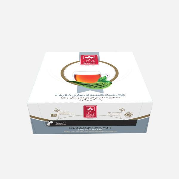 چای کیسه ای عطری خانواده چای دبش بسته 100 عددی