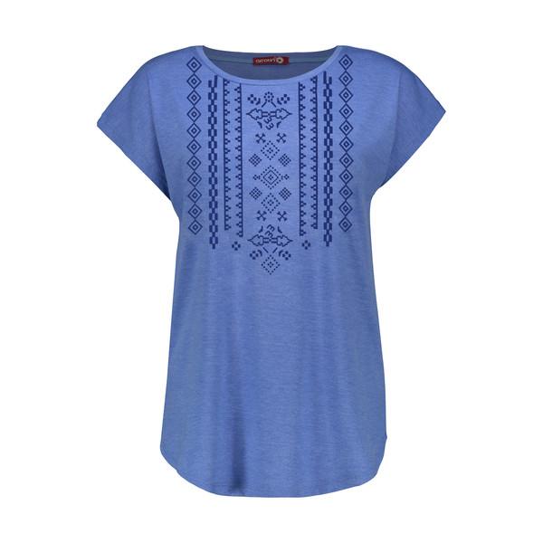 تی شرت زنانه افراتین کد 2551 رنگ آبی