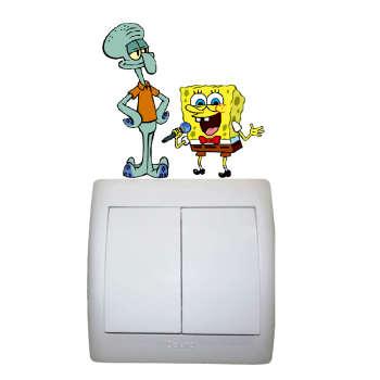 استیکر مستر راد طرح باب اسفنجی و اختاپوس کد 009 SpongeBob