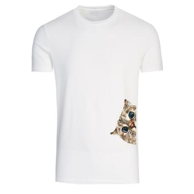 تیشرت آستین کوتاه مردانه طرح گربه کد A254