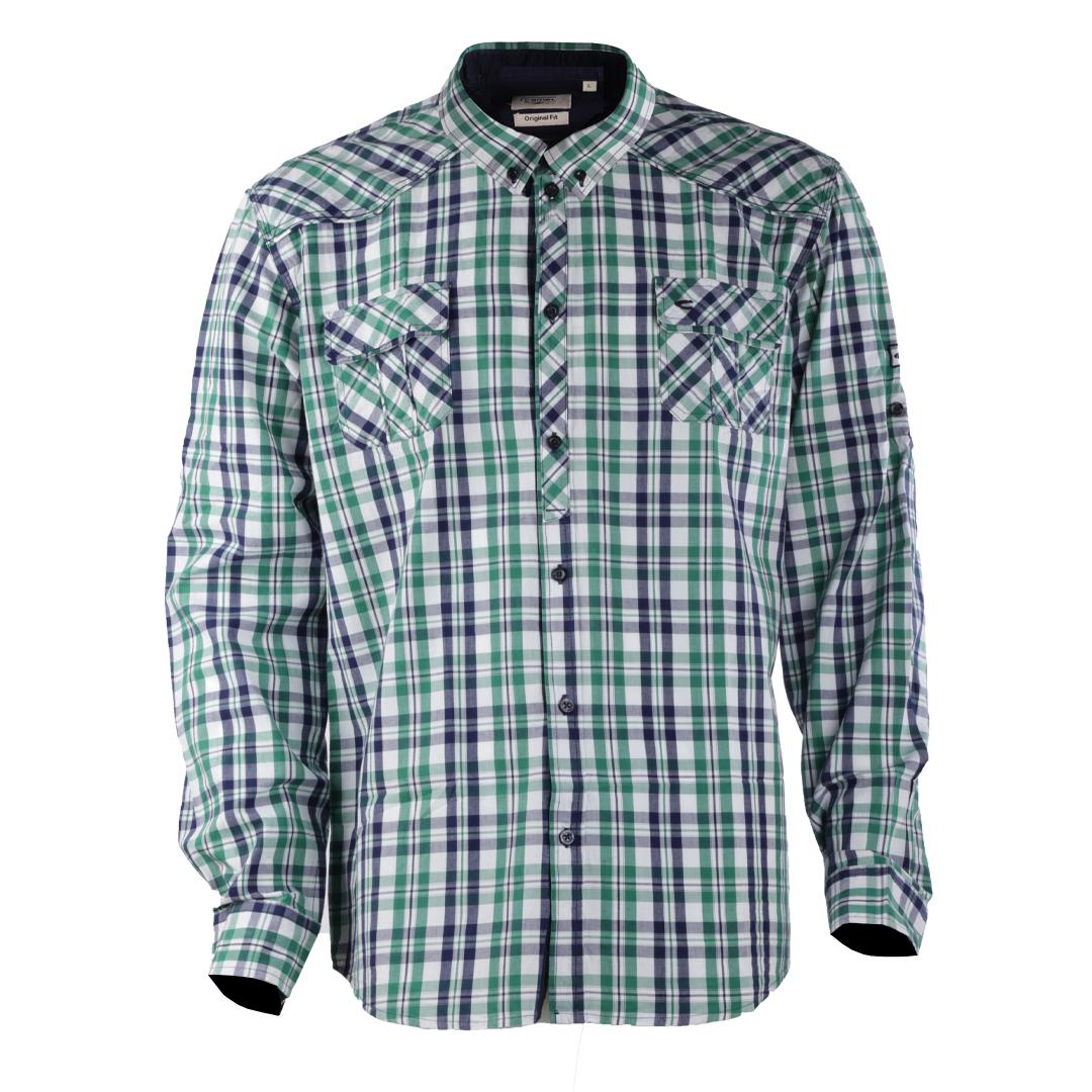 پیراهن آستین بلند مردانه کمل مدل 3MNS-2019-018