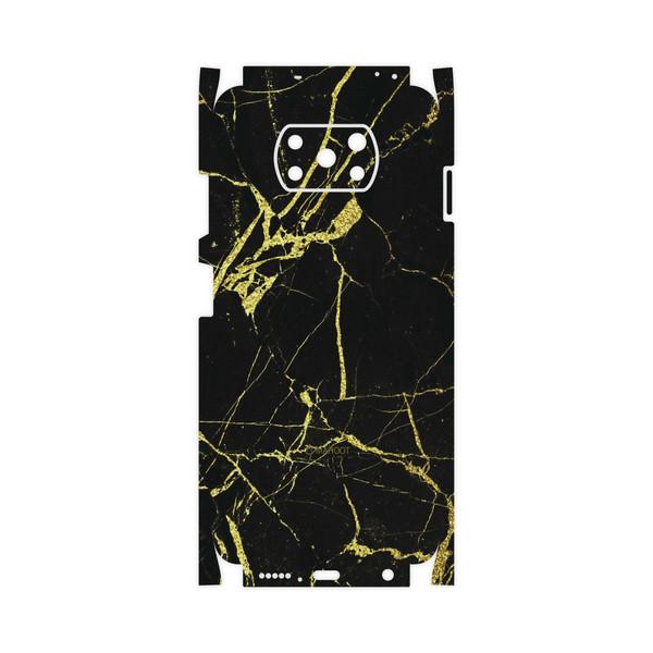 برچسب پوششی ماهوت مدل Graphite-Gold-Marble-FullSkin مناسب برای گوشی موبایل شیائومی Poco X3 NFC