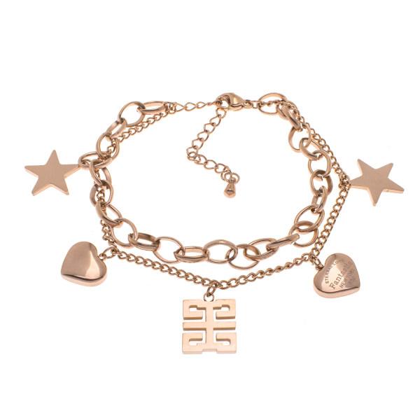دستبند زنانه استینلس استیل مدل BDZ1025