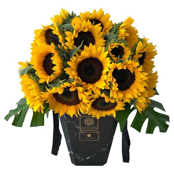 گلدان گل آفتابگردان گل گیفت کد GG0027
