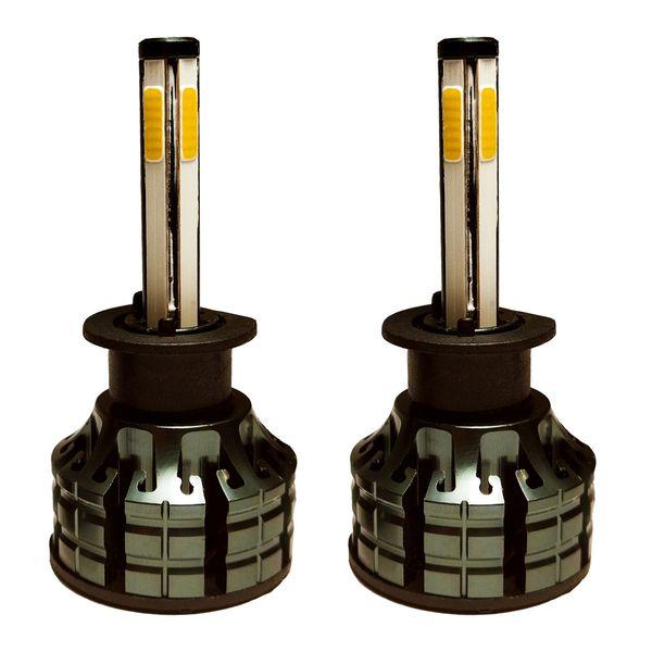 لامپ هدلایت خودرو لنزو مدل چهار طرفه H1 بسته دو عددی