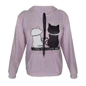 هودی زنانه طرح دو گربه کد S 08