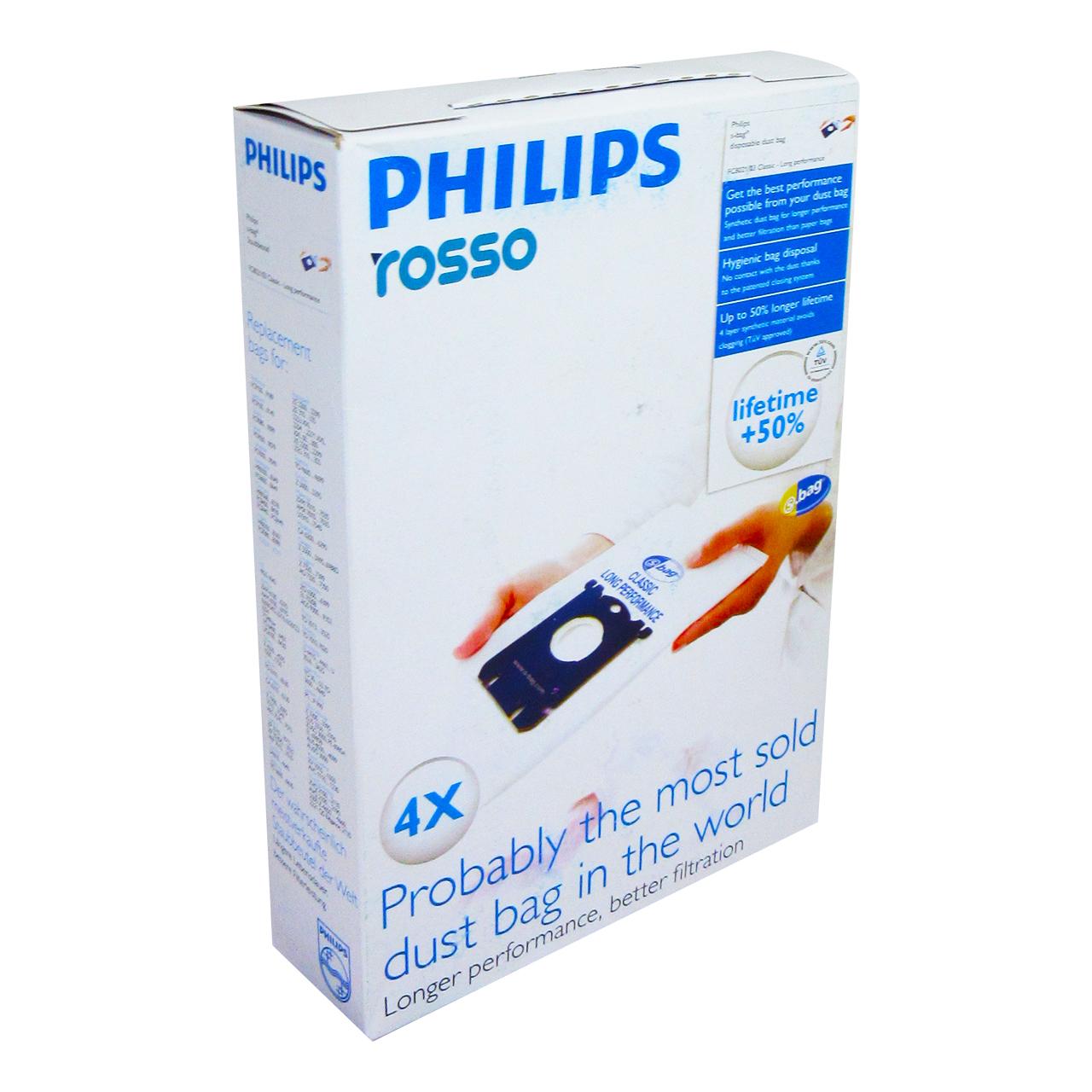 کیسه جارو برقی کد01 بسته 4 عددی مناسب برای جاروبرقی فیلیپس                          غیر اصل