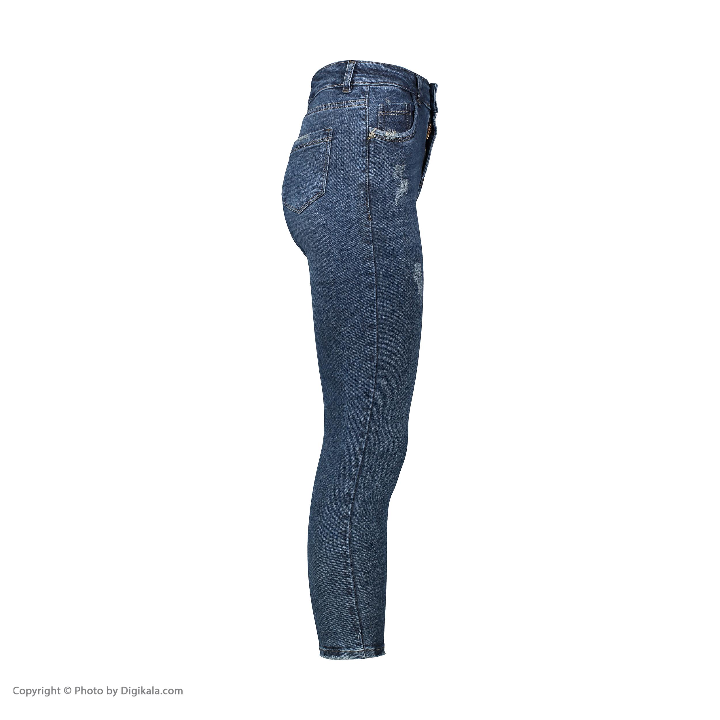 شلوار جین زنانه کیکی رایکی مدل BB3343-403