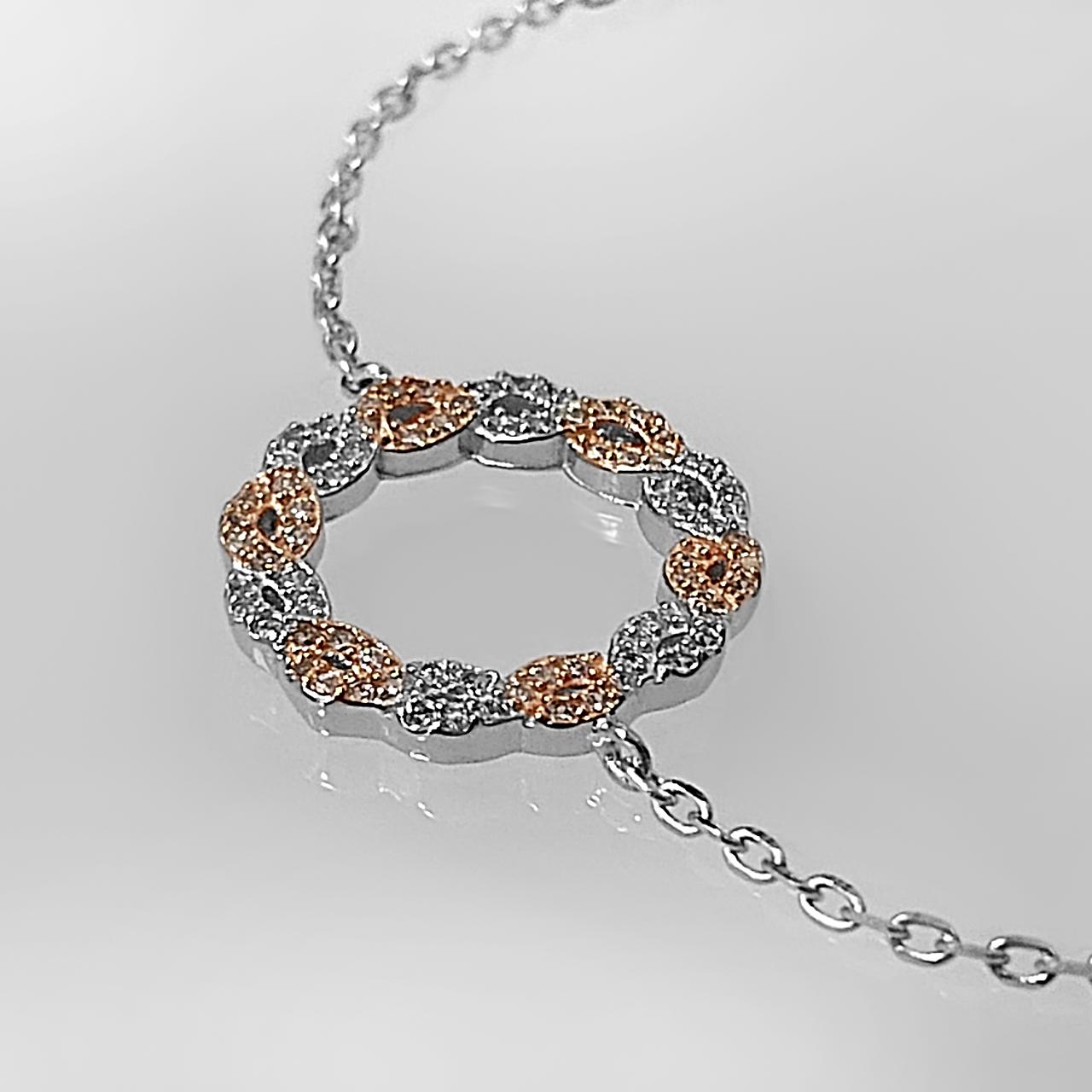 دستبند نقره زنانه اقلیمه کد DN439 -  - 7