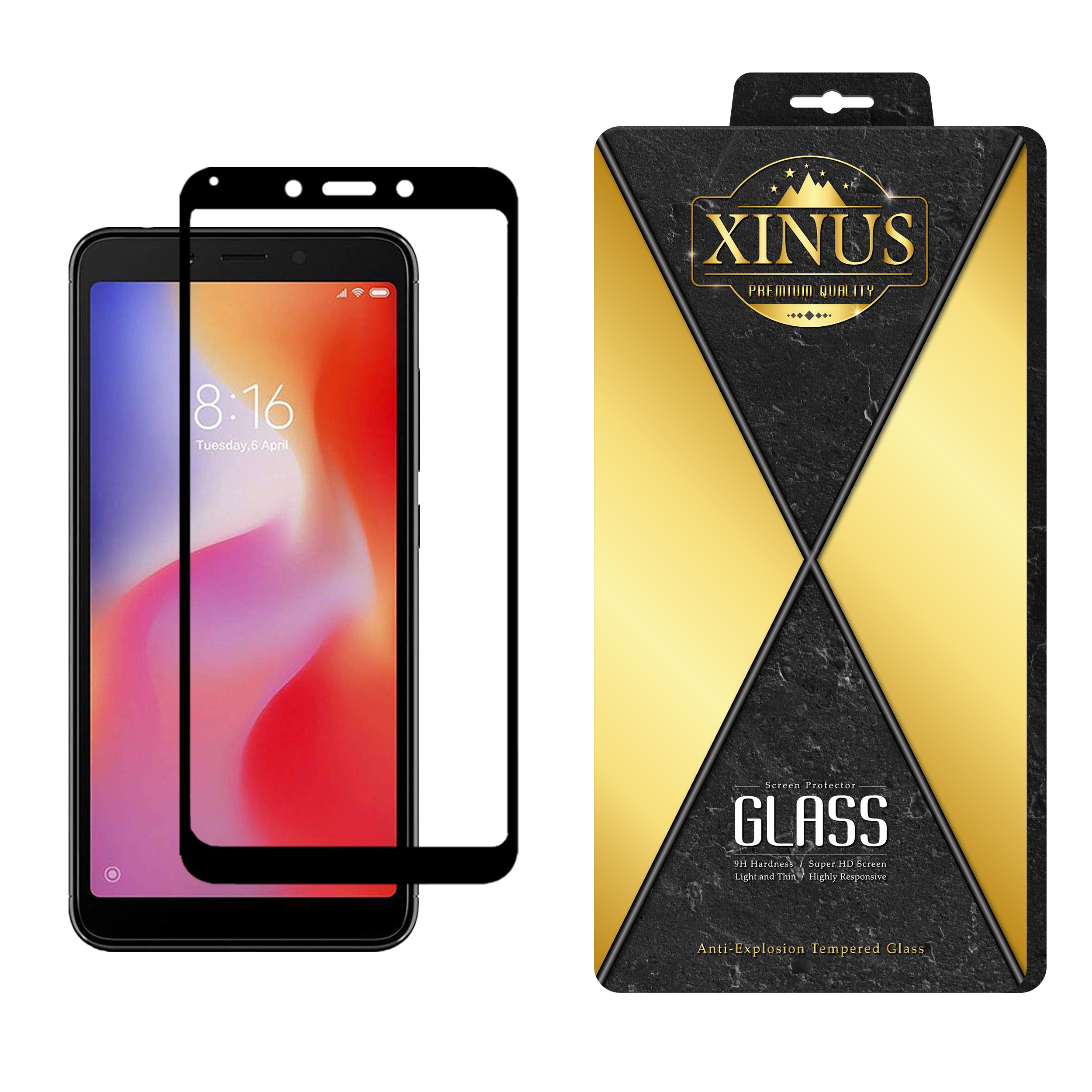 محافظ صفحه نمایش 5D ژینوس مدل FGX مناسب برای گوشی موبایل شیائومی Redmi 6  در بزرگترین فروشگاه اینترنتی جنوب کشور ویزمارکت