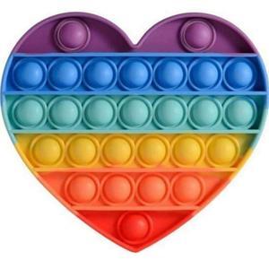 فیجت ضد استرس پاپ ایت طرح رنگین کمان مدل قلب