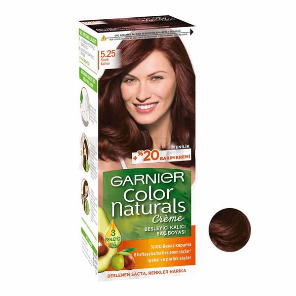 کیت رنگ مو گارنیر شماره 5.25 حجم 40 میلی لیتر رنگ قهوه ای گرم