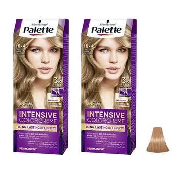 کیت رنگ مو پلت سری Intensive شماره 46-10 حجم 50 میلی لیتر رنگ بلوند پودری مجموعه 2 عددی