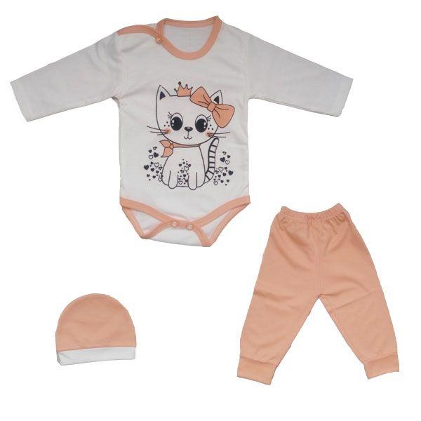 ست 3 تکه لباس نوزادی طرح گربه -  - 3