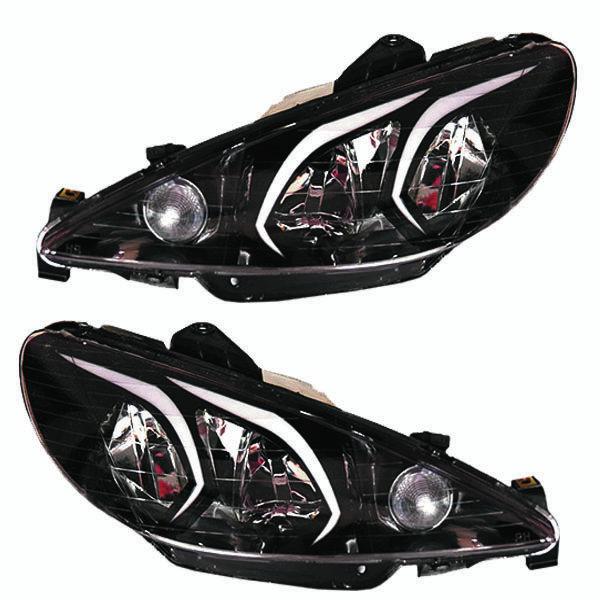 چراغ جلو خودرو مدل pe-205 مناسب برای پژو 206 بسته 2 عددی